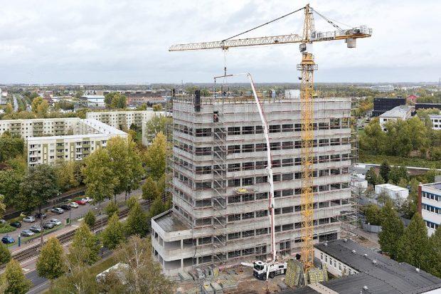 UFZ-Neubau im Wissenschaftspark an der Torgauer Straße in Leipzig. Bild: Michael Moser Images