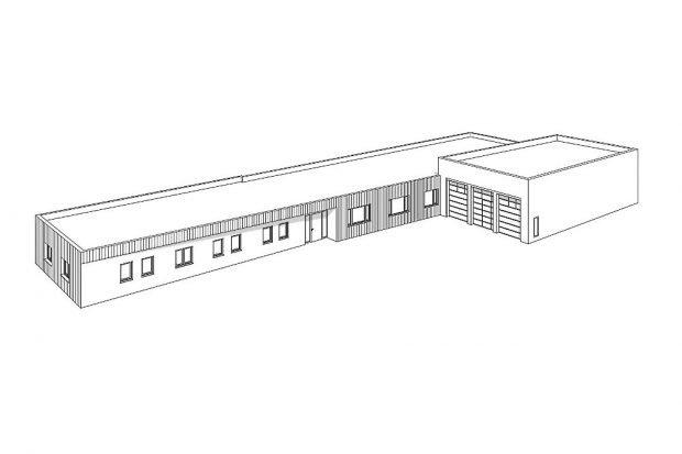 Visualisierung Gebäudekomplex © SMF