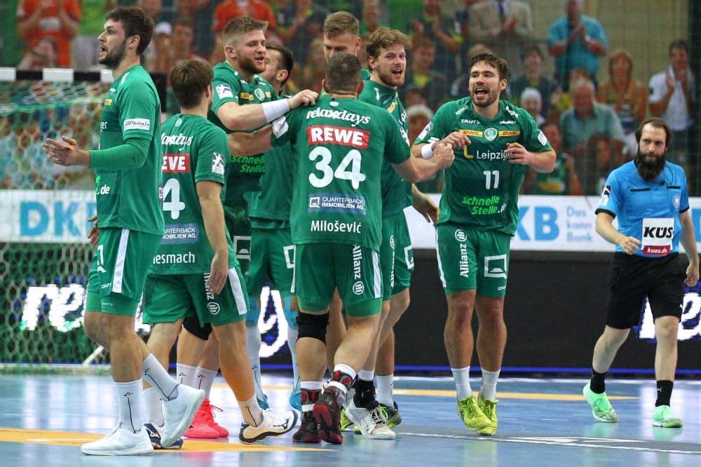 Erstes Spiel, erster Siegesjubel. Guter Start für die SC DHfK-Handballer in die neue Bundesliga-Saison. Foto: Jan Kaefer