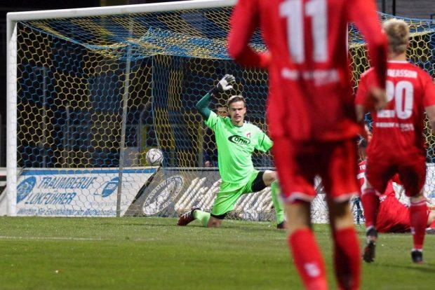 Das Leipziger Siegtor fiel bereits in der ersten Spielminute. Foto: Jan Kaefer