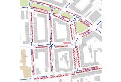 Einbahnstraßenvorschlag für Anger-Crottendorf. Grafik: Bürgerverein Anger-Crottendorf