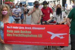 Auf der Demo gegen den Flughafenausbau am 24.Juli 2020 in Leipzig, gemeinsam mit Fridays4future Leipzig. Foto: privat
