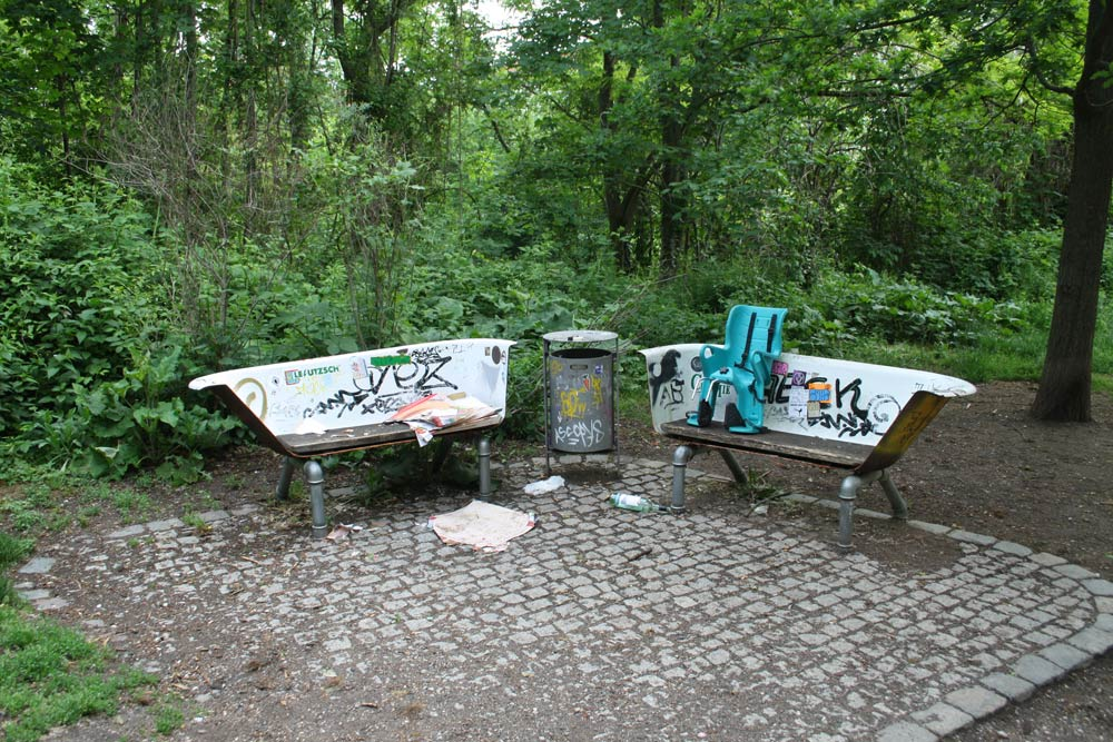 Sitzwannen am Fuß des Fockebergs. Foto: Ralf Julke