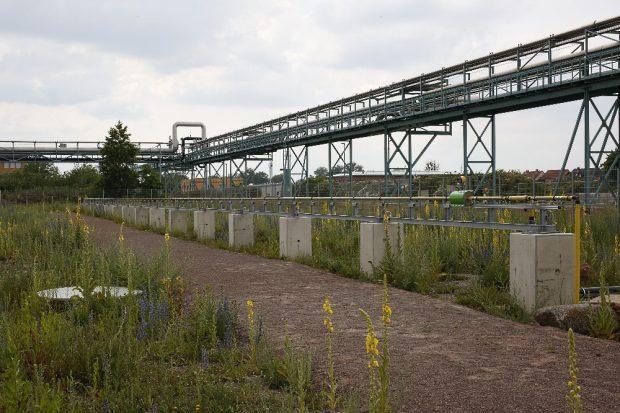 Im Wasserstoffdorf in Bitterfeld-Wolfen wird geforscht, wie man Wasserstoff in Zukunft günstig erzeugen, sicher transportieren und zielsicher in die Haushalte bringen könnte. © HTWK Leipzig