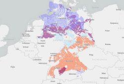 Karte der ausgewiesenen Teilgebiete gem. § 13 StandAG. Karte: BGE