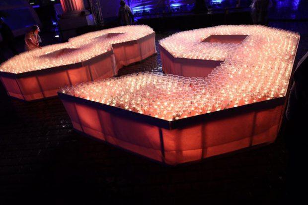89 aus Kerzen, wie in jedem Jahr. Foto: L-IZ.de
