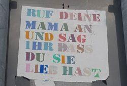 Klare Botschaft. Foto: Marko Hofmann