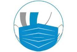 """Das Logo des UKL """"trägt"""" einen Mund-Nasen-Schutz. Foto: UKL"""