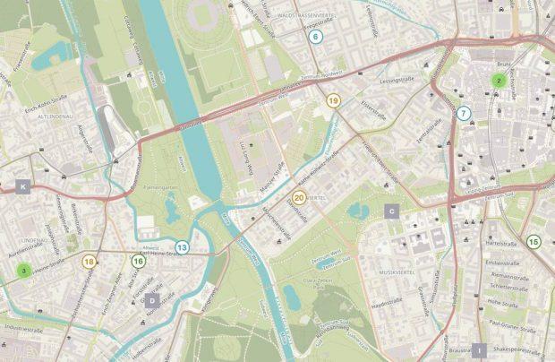 Ausschnitt aus dem Handwerker-Stadtplan. Foto: Freundeskreis des GRASSI Museums für Angewandte Kunst Leipzig e.V.