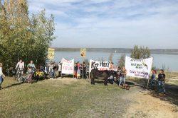 Protestaktion am Störmthaler See. Foto: UferLeben e.V.