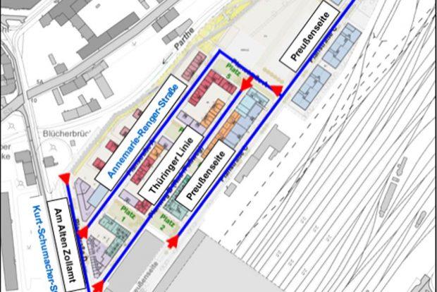 Die Vorschläge der Verwaltung für die Westseite des Hauptbahnhofs. Grafik: Stadt Leipzig