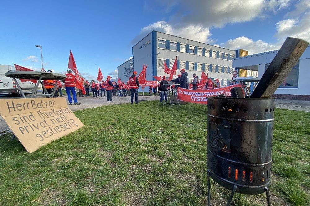 2. Warnstreik im Kabelwerk Meißen Wilhelm Balzer GmbH. Foto: IG Metall