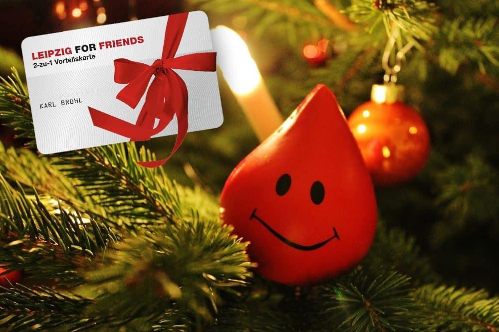 Die UKL-Blutbank bedankt sich bei allen Blutspendern im Dezember mit einer LEIPZIG FOR FRIENDS-2 zu 1 Vorteilskarte. Foto: Blutbank/UKL