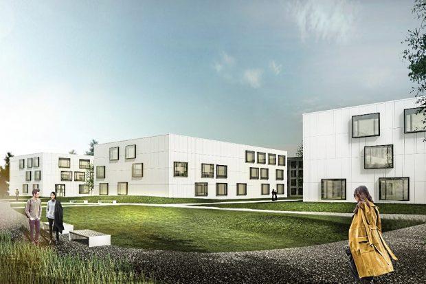 Visualisierung Laborflügel © CODE UNIQUE Architekten BDA