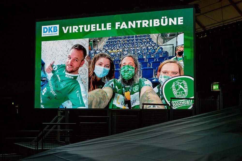 Virtuelle DKB Fantribüne. Foto: Karsten Mann