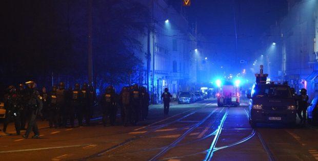 In Connewitz gegen 21:15 Uhr. Foto: L-IZ.de