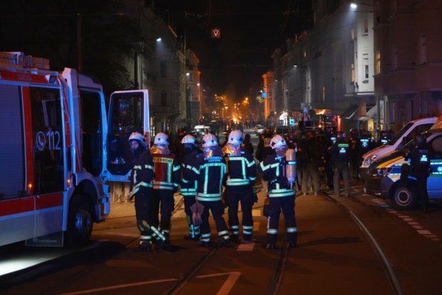 Connewitz am Abend des 7. November 2020. Foto: L-IZ.de