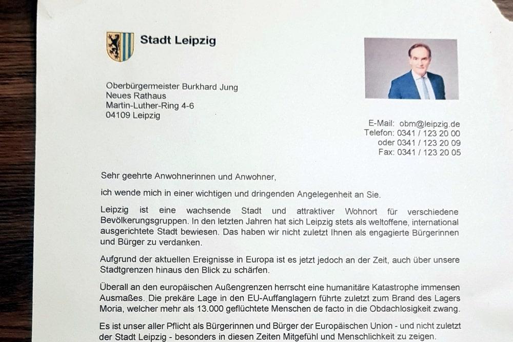 Leerstandregistrierung wegen Flüchtlingen - ein Fakeschreiben in Leipzig. Foto: L-IZ.de