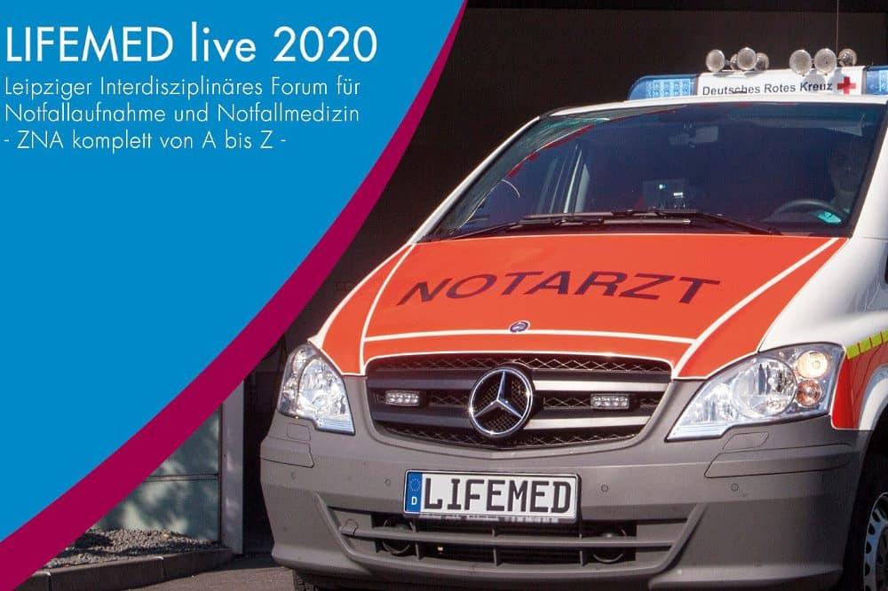 LIFEMED 2020 - Das Leipziger Interdisziplinäre Forum für Notfallaufnahmen und Notfallmedizin findet in diesem Jahr nur via Internet statt. Foto: UKL