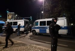 Polizeieinsatz am 7. November in Leipzig. Foto: L-IZ.de