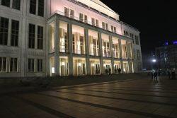 """Wieder abgebaut: Noch inder Nacht zum 7. November hatte """"Querdenken"""" aus Stuttgart wieder einpcken und abbauen müssen. Foto: L-IZ.de"""