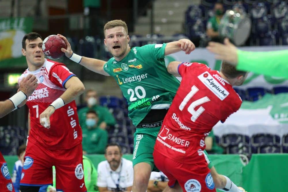 Nur ein Punkt für Philipp Weber und seinen SC DHfK im Geisterspiel gegen Lemgo. Foto: Jan Kaefer