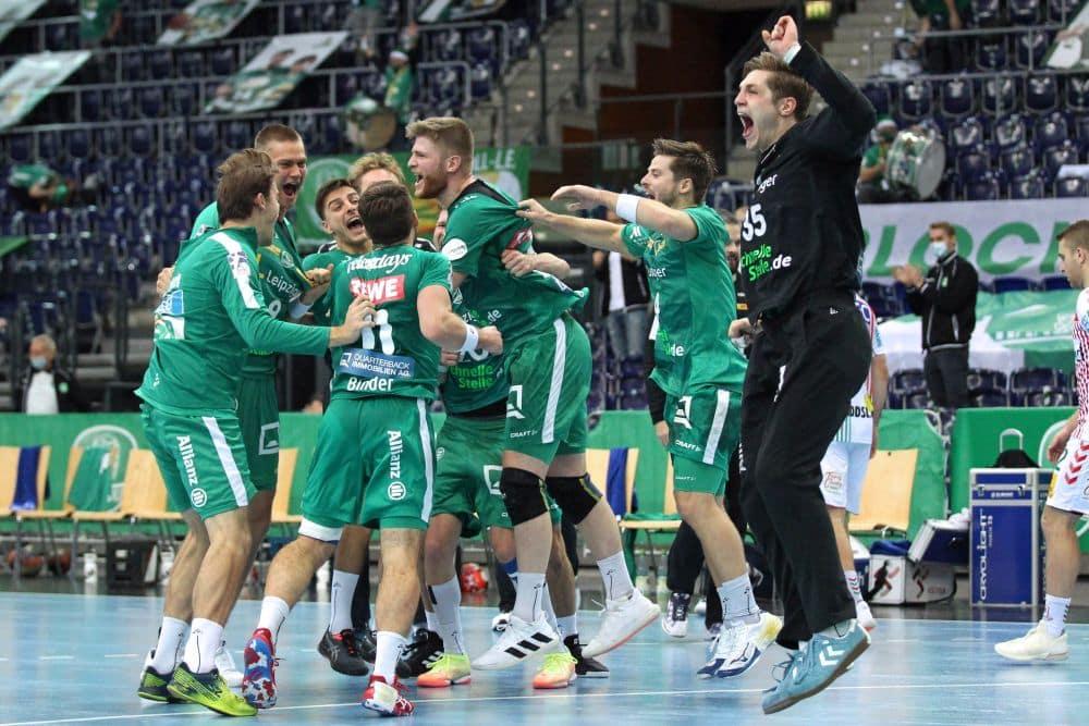 Nach über vier Jahren gab es für den SC DHfK endlich wieder einen Sieg gegen Magdeburg zu feiern. Foto: Jan Kaefer