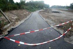 Der neue Asphaltweg zwischen Neuer Luppe und Nahle im August. Foto: Ralf Julke