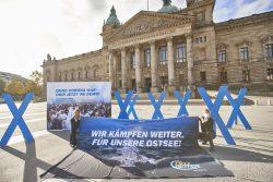 Protest der Beltretter vor dem Bundesverwaltungsgericht. Foto: Beltretter