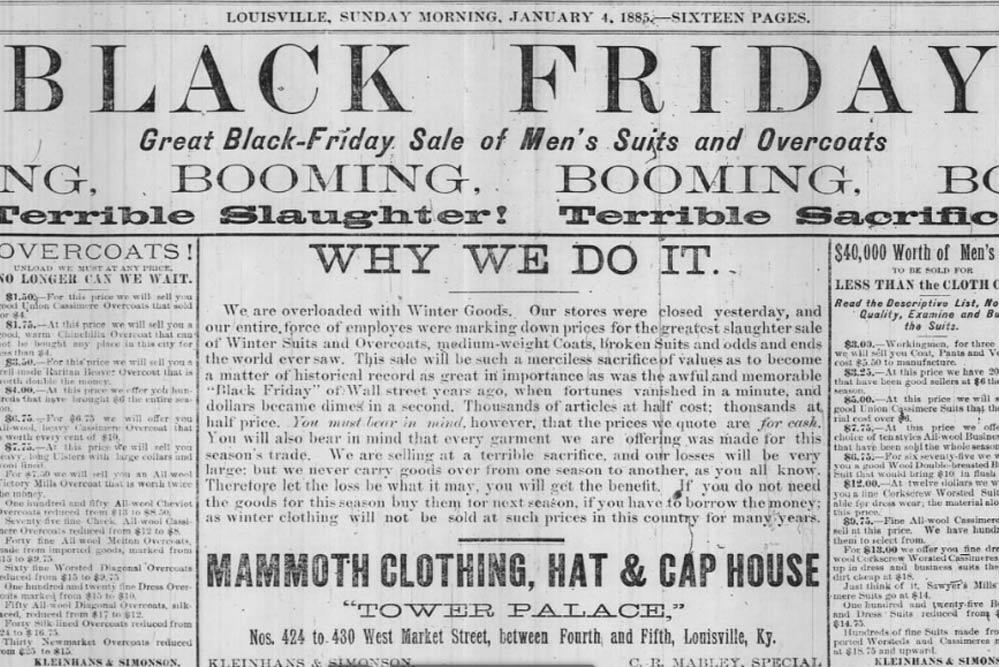 The Courier-Journal, Louisville, Kentucky, Seite 9 vom 4. Januar 1885. Quelle: newspapers.com