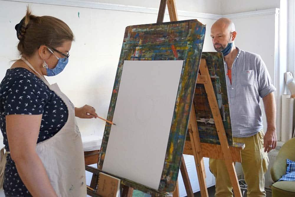Der IMAGE-Kurs fand unter künstlerischer Betreuung statt. Foto: Leipziger Bündnis gegen Depression e.V.