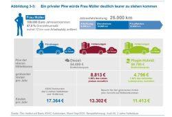 Unterschiedliche Steuerlast für Privat-Pkw und Firmenwagen. Grafik: Öko-Institut