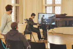 Aufzeichnung der digitalen Klangpause in der Alten Börse während der coronabedingten Museumsschließung. Foto: Stadtgeschichtliches Museum Leipzig