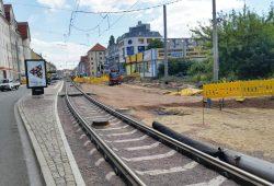 Gleisbau der LVB - hier in Lindenau. Archivfoto: Marko Hofmann