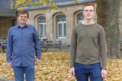 Prof. Jochen Merker (links) und Benjamin Kunsch. Foto: MNZ/HTWK Leipzig