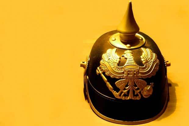 Das markante Symbol des Wilhelminischen Reiches: die Pickelhaube. Foto: Marko Hofmann