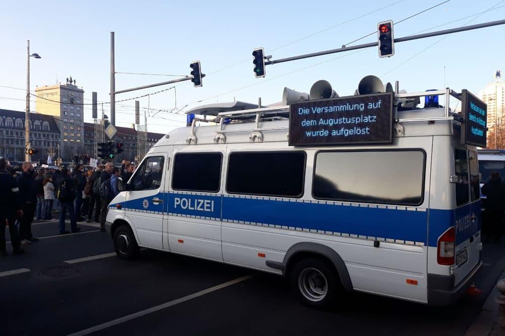 Querdenken darf vorerst nicht auf den Augustusplatz. Archivfoto: L-IZ.de