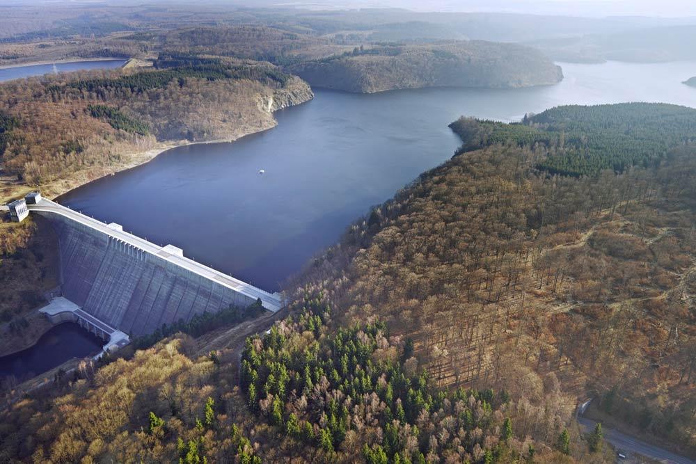 Die Rappbodetalsperre im Harz ist die größte Trinkwassertalsperre Deutschlands. Foto: André Künzelmann / UFZ