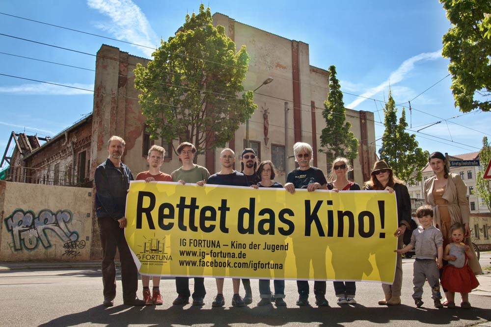 """IG Fortuna mit der Aktion """"Rettet das Kino!"""" Foto: Thomas Szabo"""