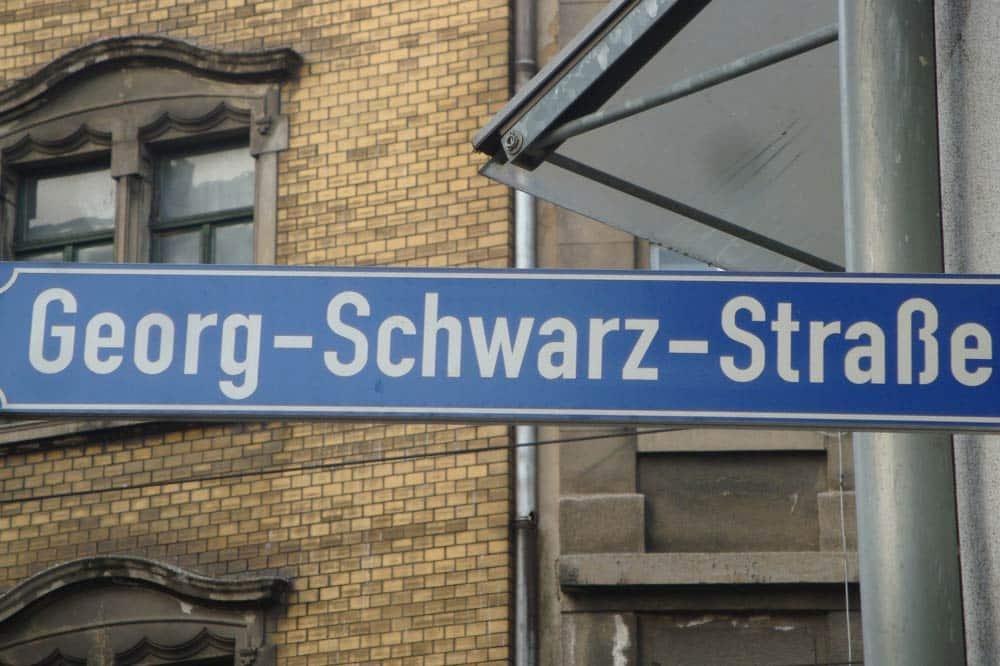 Georg-Schwarz-Straße. Foto: Gernot Borriss