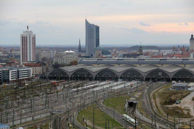 Leipzig Hbf. neues Gleisvorfeld, neue Bahnsteige, City-Tunnel Foto: Frank Kniestedt