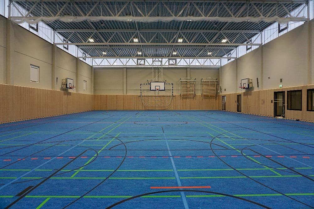 Ging jetzt in Betrieb: Die neu gebaute Sporthalle der JVA Torgau. © Staatsbetrieb Sächsisches Immobilien- und Baumanagement (SIB)