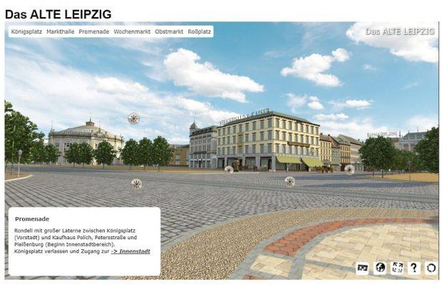 Ansicht des alten Leipzigs. Bald soll man auch in Virtual Reality durchlaufen können. © Altes Leipzig