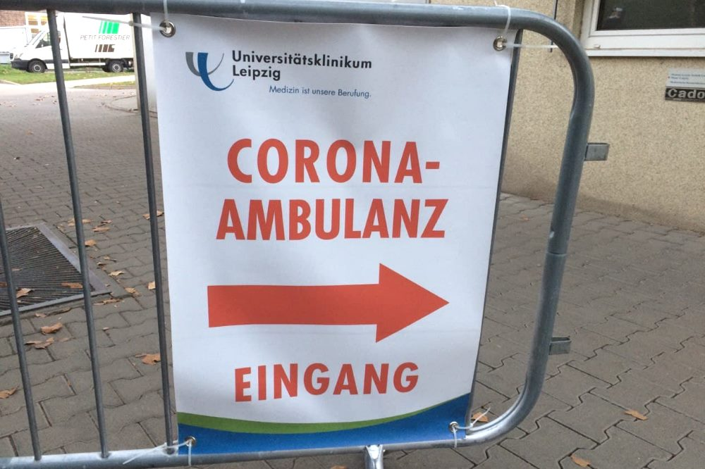 Corona-Ambulanz der Uniklinik Leipzig. Foto: L-IZ