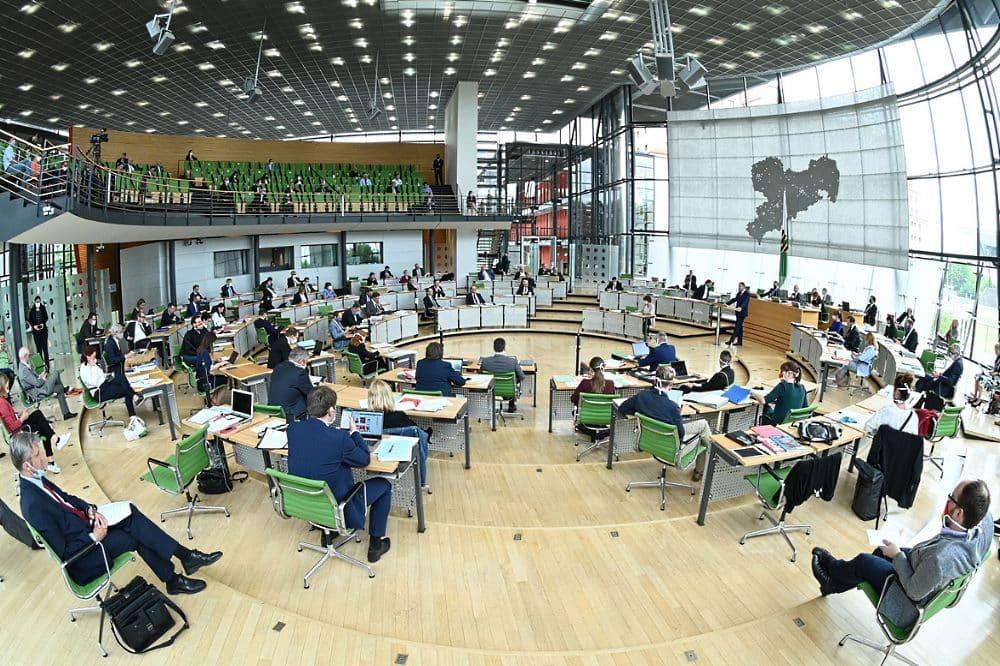 Der sächsische Landtag. Foto: Sächsischer Landtag / Jürgen Männel (Archiv)