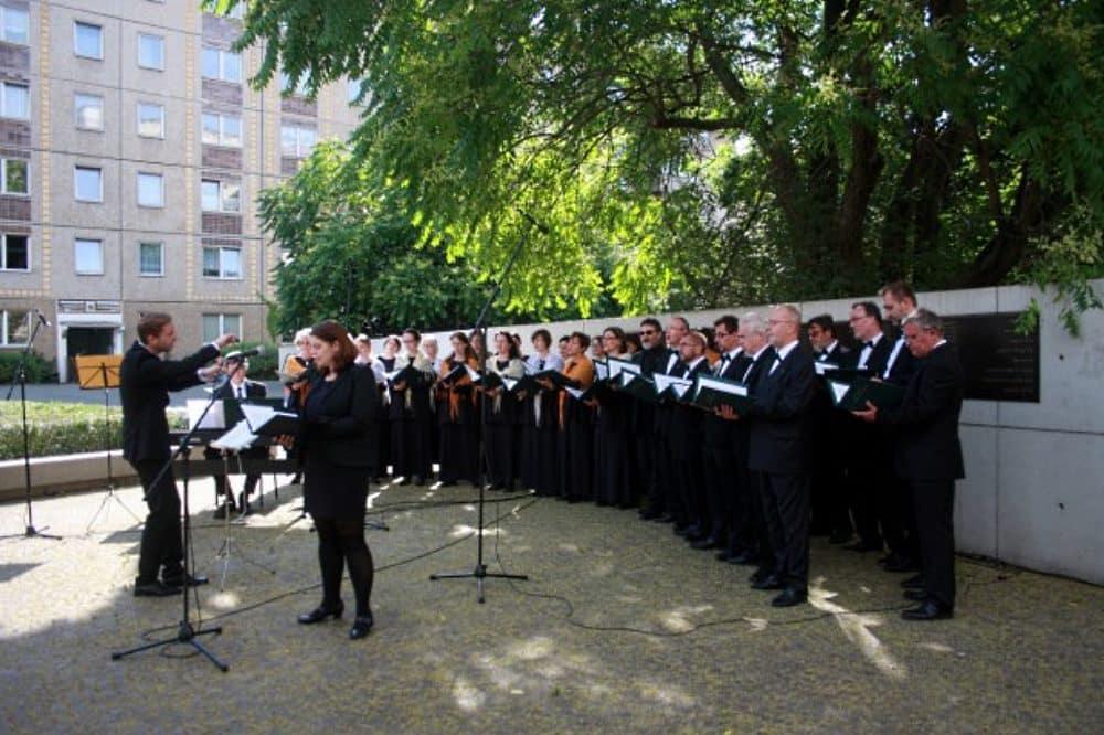 Archivbild: Leipziger Synagogalchor musiziert unter Leitung von Ludwig Böhme. Foto: Alexander Böhm