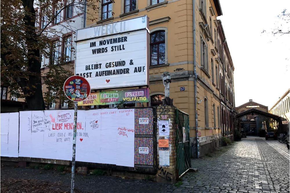 Aufmunternde Worte trotz zweiten Lockdown am Werk2. Foto: Birthe Kleemann
