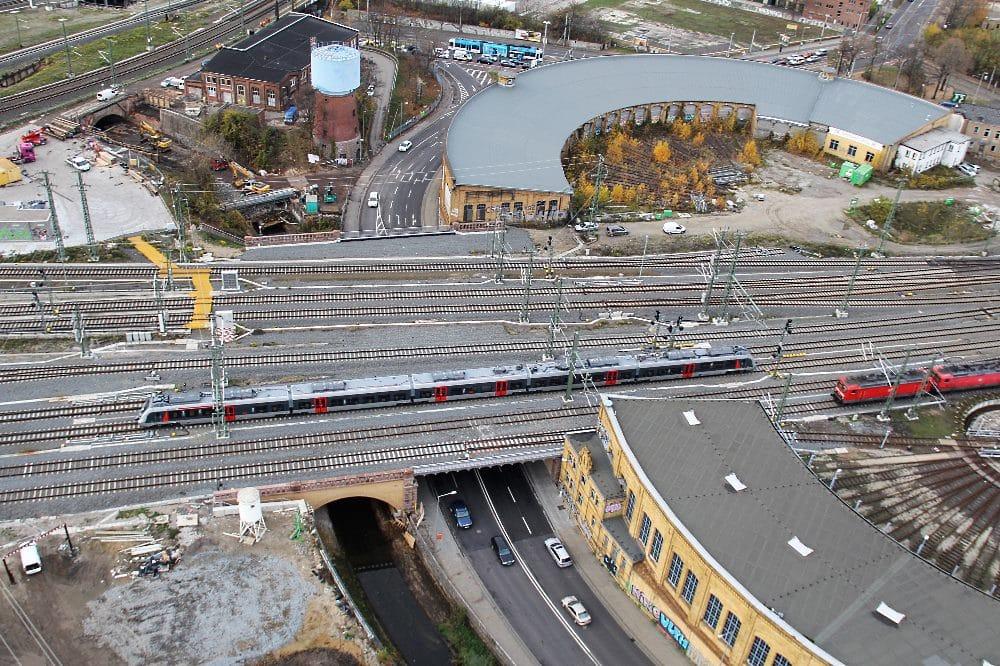 Knoten Leipzig. neue Eisenbahnüberführung Rackwitzer Straße Foto: Frank Kniestedt