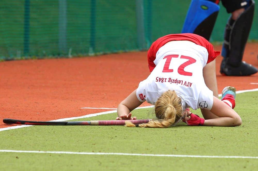 Sind die Hockeyfrauen des ATV Leipzig durch die Punktabzüge bereits zu Boden gerungen? Foto: Jan Kaefer