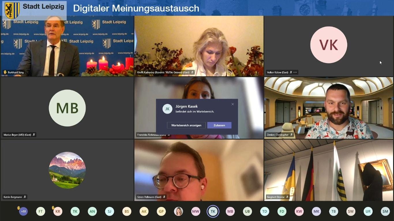 Die Sitzung vom 16.12.2020 in Aktion. Foto: Screen Livestream